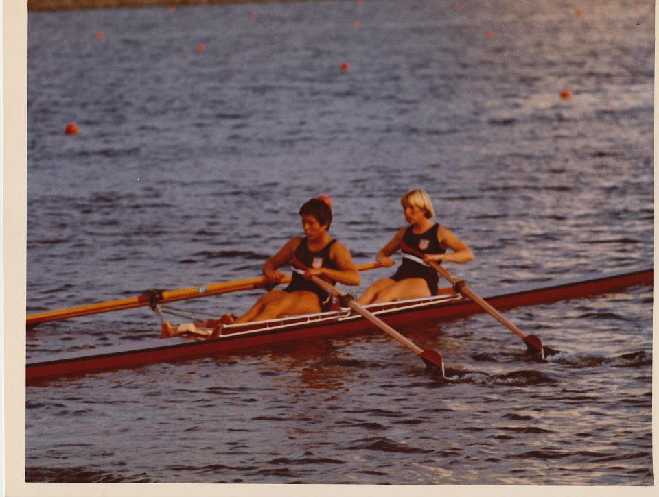 Jan and Diane racing to 5th place in the Finals.