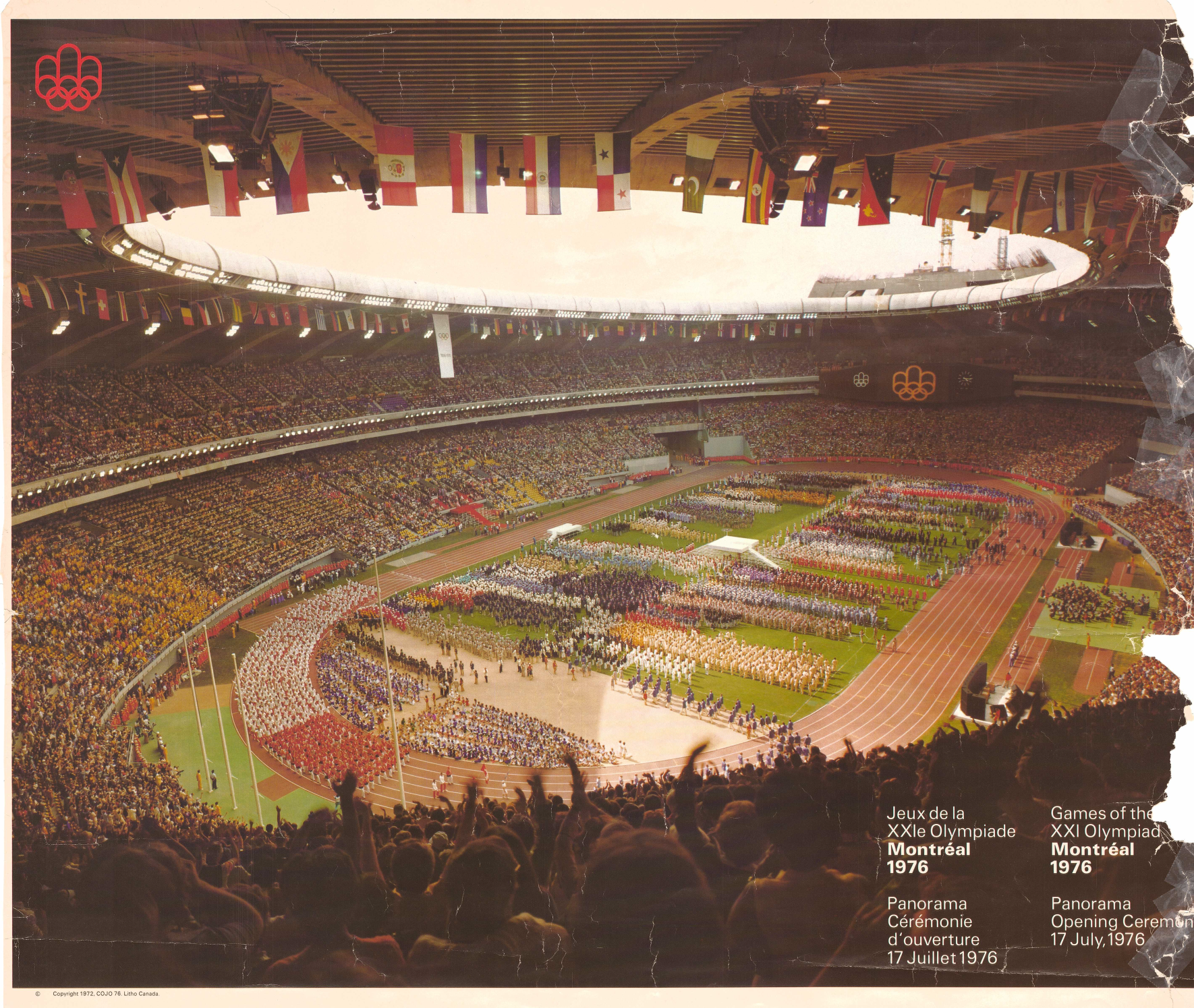 This old poster gives a great overview of the Opening Ceremony.
