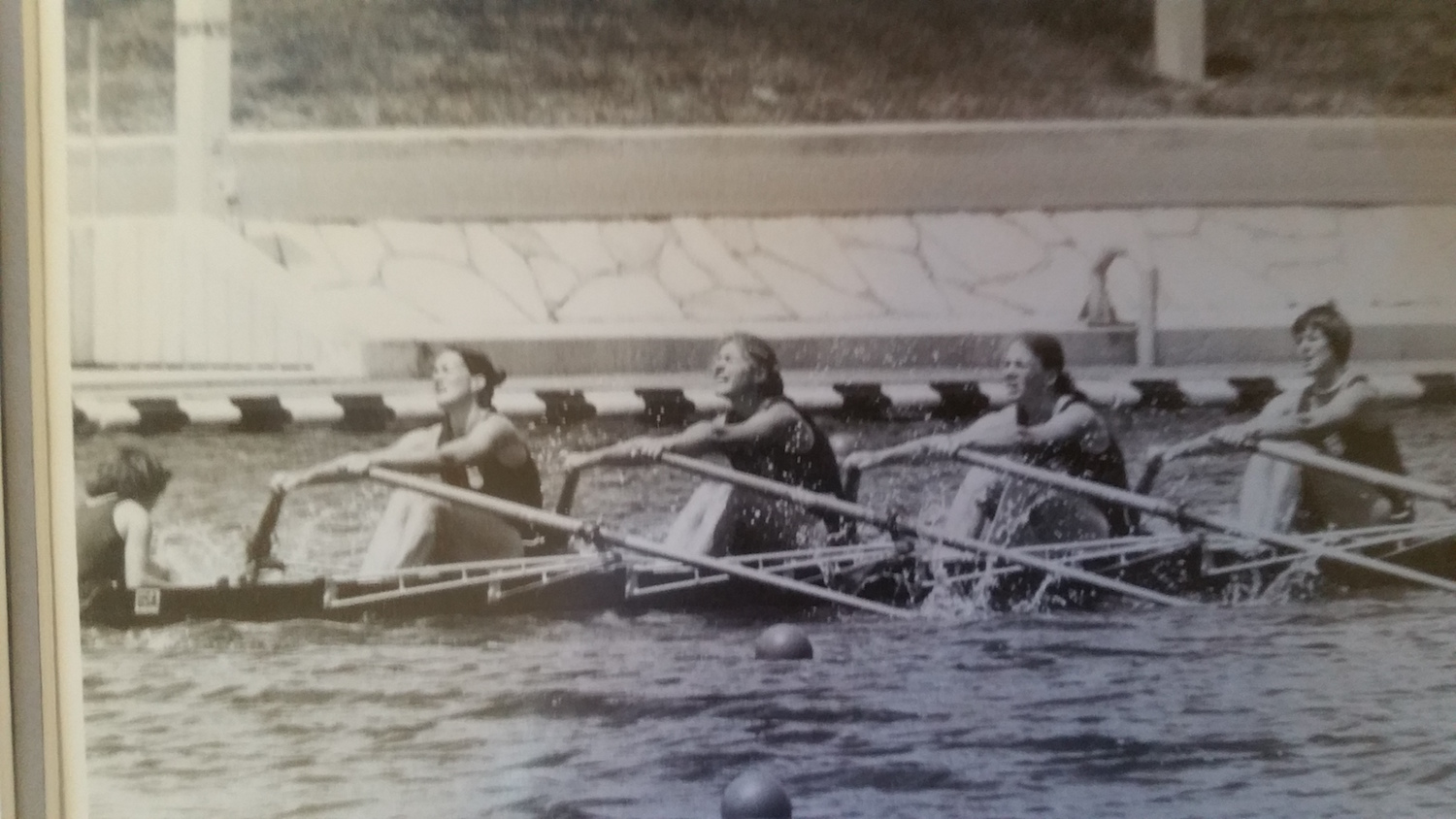 The quad on the way to winning the Petite Final with the 4th fastest time overall in the final racing.